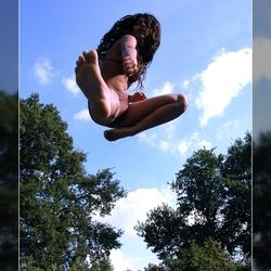 Poseren in de lucht Zoë in the sky 2007