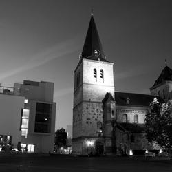 Pancratiusplein in Zwart-wit.