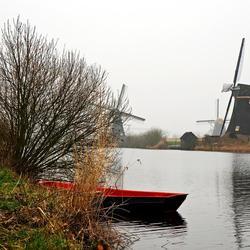 Molens van Kinderdijk in de winter