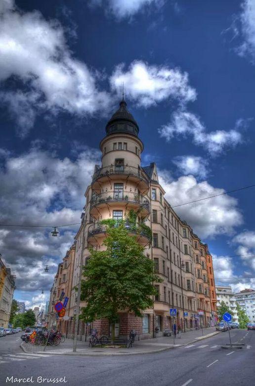 Zweedse hoekhuizen - Lekker door de straten van stockholm.