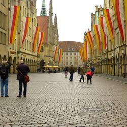 Straat in Münster.