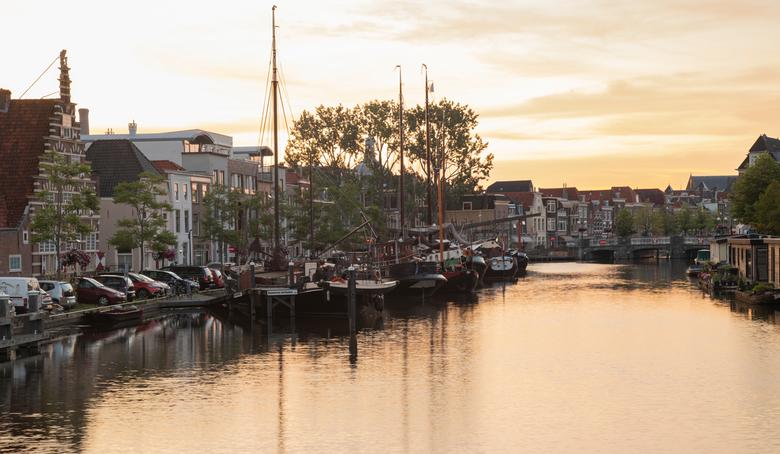 Zicht op het Galgewater in leiden - Deze foto is een van de foto's die ik heb gemaakt over het leven van de jonge Rembrandt van Rijn in Leiden (h