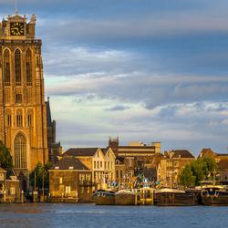 Zonsondergang Dordrecht vanaf Zwijndrecht (met de zon in de rug)