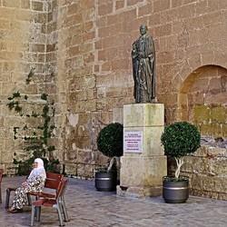 Voor de kathedraal van Almeria