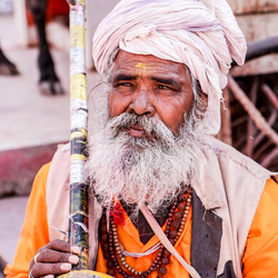 Straatartiest in India