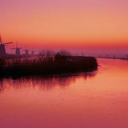 Kinderdijk winter Panorama