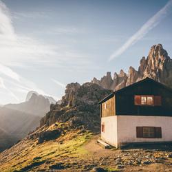 Cabin sunrise.