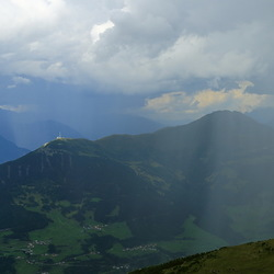 regen boven het Oberinntal