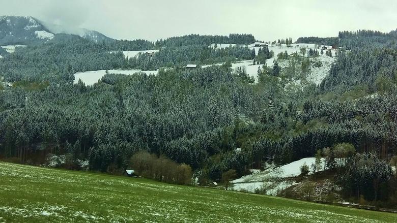 Eerste sneeuw - Salzburgerland, Oostenrijk