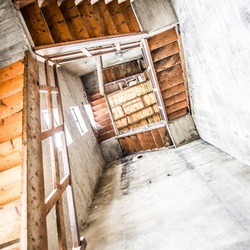 Stairs upside down