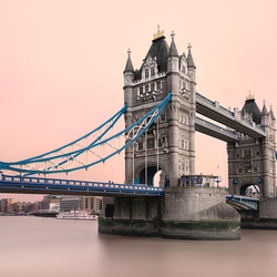 Tower bridge and red sky