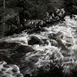River FLows in Sepia Moment