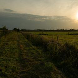 Zonsondergang op het Groninger platteland