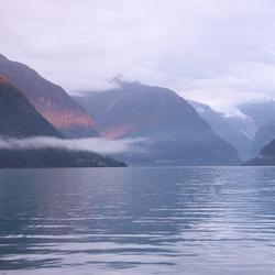 Alpengloed in Noorwegen