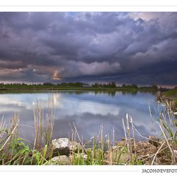 Regenwolken boven het Staphorster veld (2)