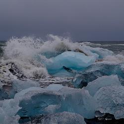 IJsbrokken van de Vatnajokull in zee