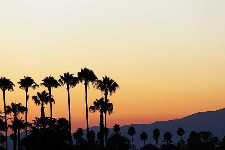 sunset LA - Nog even terug mijmeren naar de zomervakantie, net na de echte kou even terug dromen naar  29 graden C met 70-200mm op 200mm  ondersteund