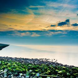 Afsluitdijk zonsondergang