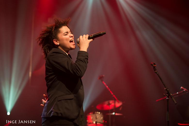 Julia van der Toorn - Julia van der Toorn tijdens een optreden op het Goois Jazz festival in 't Spant in Bussum