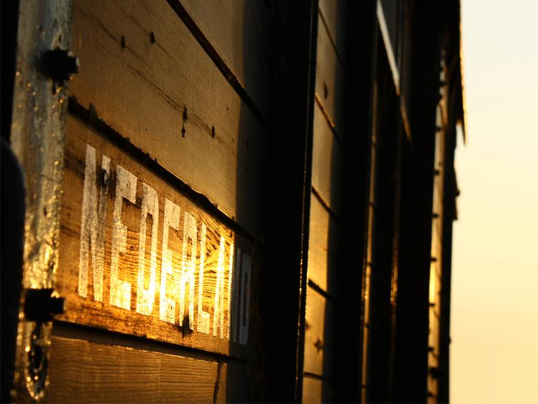 Wagon van oude stoomtrein - in Hoorn, NH<br /> zo tegen het avondlicht