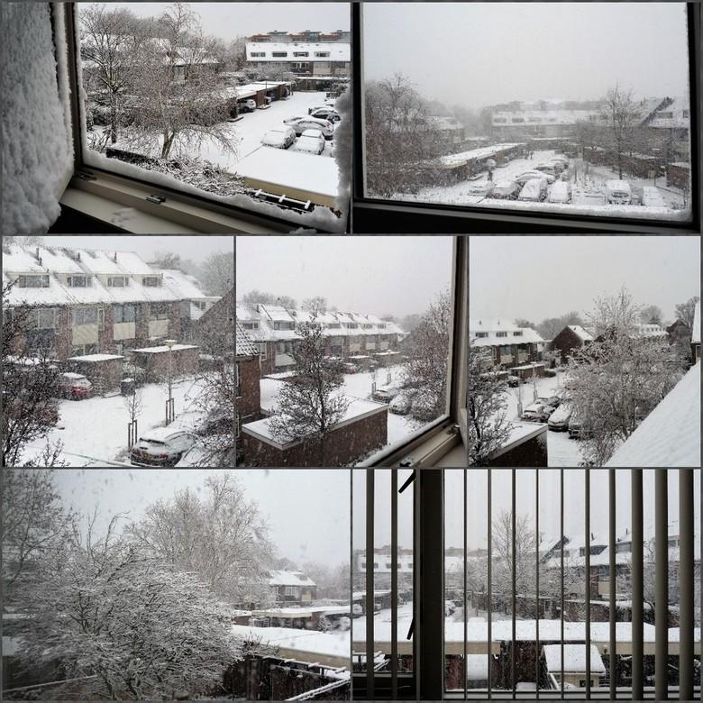 Collage   wintersfeer  in Naaldwijk10 en  11dec 2017
