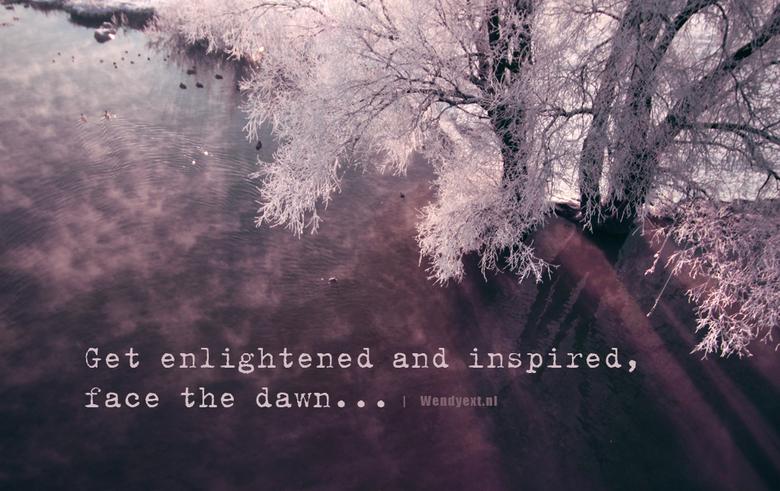 """Purple dawn - Het (koude) ochtendgloren getrotseerd voor een paar mooie beelden. Werkt érg verfrissend, letterlijk en figuurlijk <img  src=""""/images/sm"""