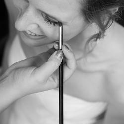 Bruid in voorbereiding