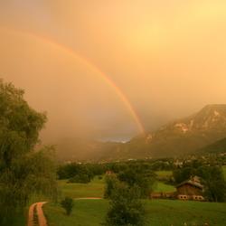 halve regenboog