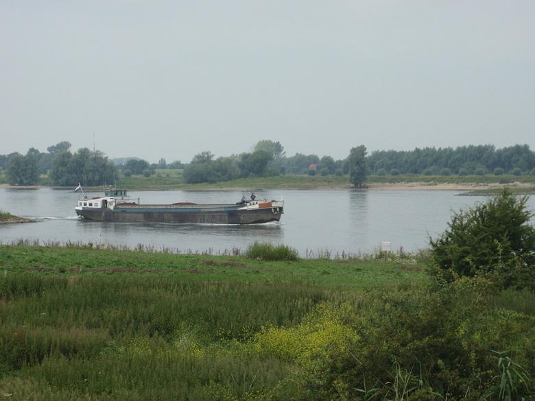 de Waal - vraqchtboot varend over de Waal