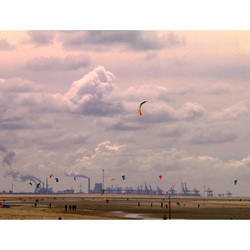 strand rook en vliegers