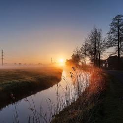 Sunrise in Friesland Holland
