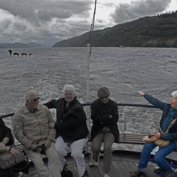 Nessie gespot op Loch Ness, Schotland