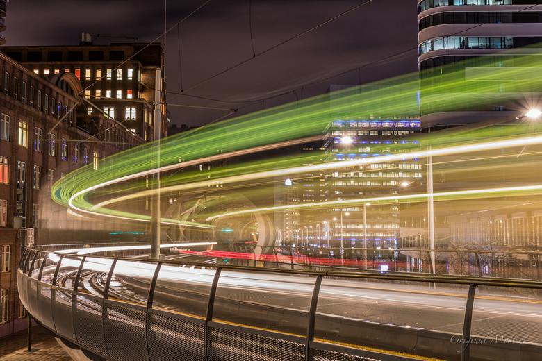 RandstadRail, The Hague by Night
