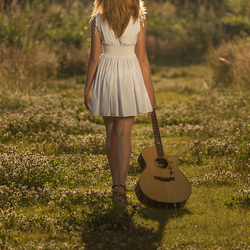Girl and her guitar...