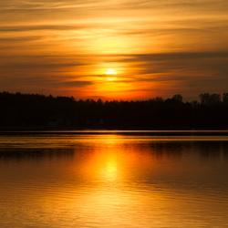 bovenwater zonsondergang