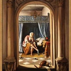 Vrouw in slaapkamer 1663