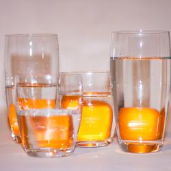 Mandarijnen achter glas