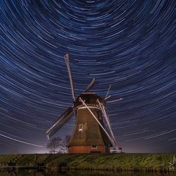 Startrails at Krimstermolen