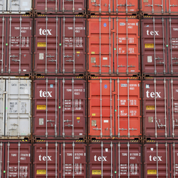 Containers op de Maasvlakte