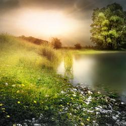 Natuur naast de stuwdam