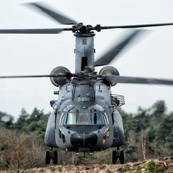 Nederlandse luchtmacht - chinook in actie