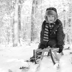 Winter play B&W