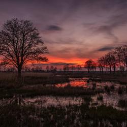 zonsondergang in Rijssen..