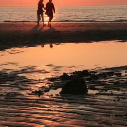 Domburg bij zonsondergang