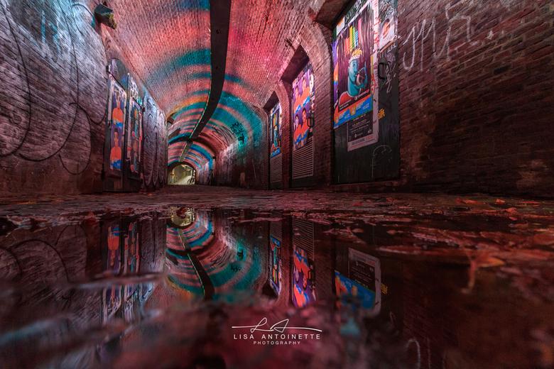 De gekleurde tunnel van Utrecht