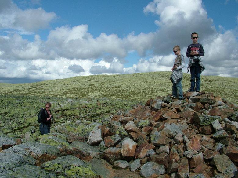 On top of the world. - Omgeving Idre, tijdens wandeling naar de top van de berg.