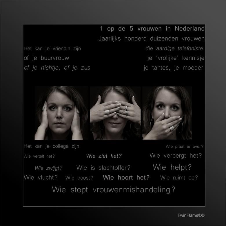 Vrouwenmishandeling - Nu eens een zeer serieus onderwerp, maatschappelijk thema, wellicht zelfs taboe.. <br /> ...maar volgens ons goed om aandacht a