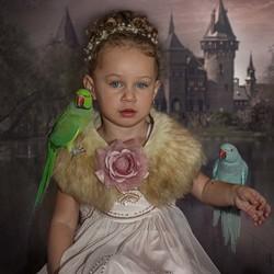 Meisje met papegaai