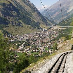 Uitzicht op Zermatt