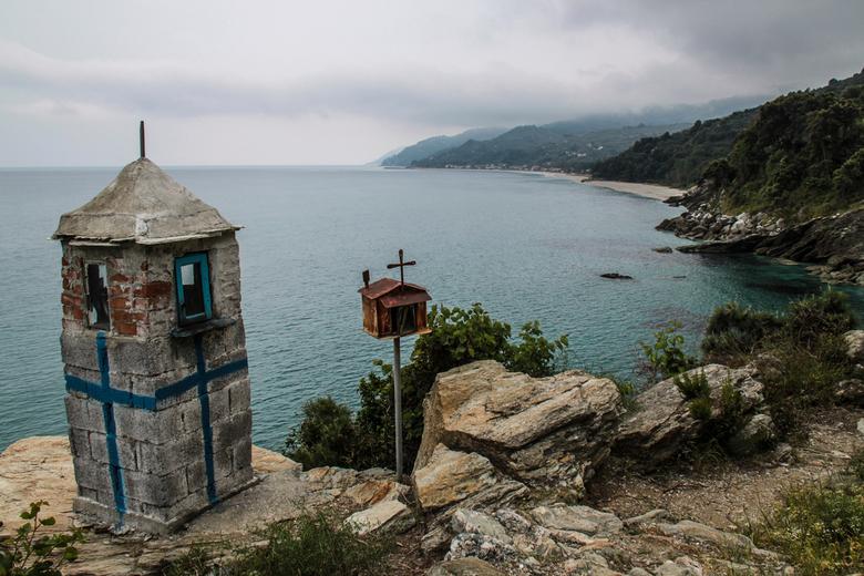 Wandelen op Pilion - Het uitzicht tijdens een wandeling op het Griekse schiereiland Pilion (start wandeling was op het strand van Chorefto).